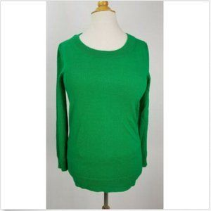 J.Crew 100% merino wool green long sleeve sweater